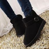 冬季防滑保暖短筒雪地靴女靴子學生平底短靴冬靴棉鞋情侶男女鞋潮 樂芙美鞋