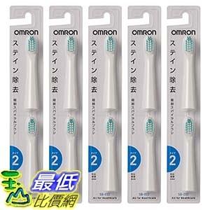 [東京直購] OMRON 歐姆龍 電動牙刷替換刷頭 10入 SB-032-5P (停產改買SB-132) 相容:HT-B307/B305/B306