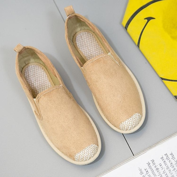 漁夫鞋2020春季新款透氣漁夫鞋女平底單鞋一腳蹬懶人鞋學生鞋老北京女鞋 交換禮物