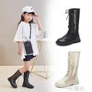 兒童馬丁靴女夏英倫風女童靴子夏季長筒靴女孩高筒鞋春秋單靴網靴 一米陽光
