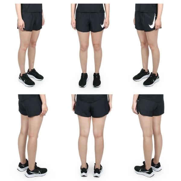 NIKE 女運動短褲(Dri-FIT 慢跑 路跑 運動 三分褲 大LOGO 平織 免運 ≡排汗專家≡
