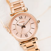FOSSIL CARLIE 閃鑽玫瑰金少女腕錶 ES4301 熱賣中!