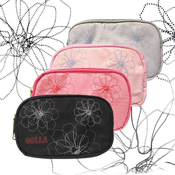 多彩花紋時尚包 雙層收納 萬用多用途包 防潑水 腰包 手機包 零錢包 3C收納 手機袋 老人機 貝殼機