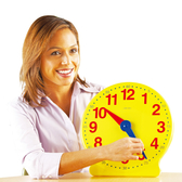 超大教學時鐘 LR學習資源 兒童幼兒教具玩具道具遊戲 教育認知數字數量顏色時間學習