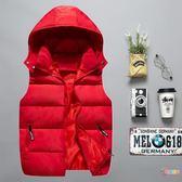秋冬兒童棉背心中大童男童韓版學生班服馬甲加厚女童保暖親子外套
