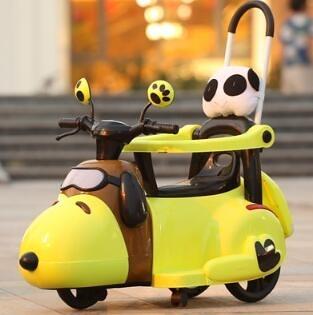電動車 新款電動摩托車三輪車6個月6歲輕便手推車小孩充電可坐玩具車TW【快速出貨國慶八折】