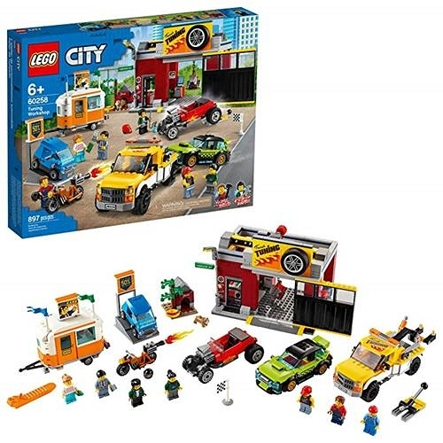 LEGO 樂高 City Tuning Workshop 玩具車車車庫 60258(897 件)