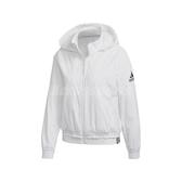 adidas 外套 Hood Short WV Jacket 白 女款 連帽 雙面設計 短版 羔羊外套 運動休閒 【PUMP306】 FT1760