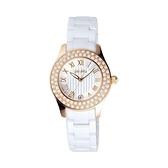 【Folli Follie】CERAMICA 天使羅馬經鑽時尚腕錶-天使白/WF9B038BDS_XX/台灣總代理公司貨享兩年保固
