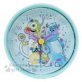 〔小禮堂〕迪士尼怪獸大學圓形鬧鐘《綠馬可龍》時鐘桌鐘4935124 50826
