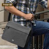 【TROOP】經典品格CLASSIC單肩包/TRP0241BK(黑色)