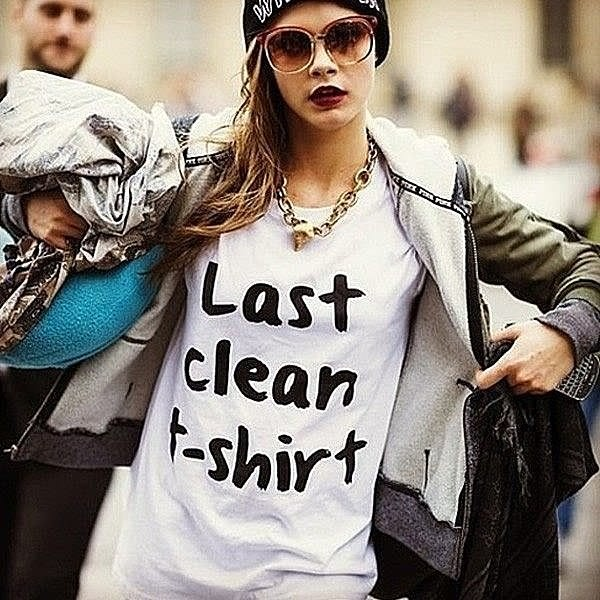 LAST CLEAN T-SHIRT短袖T恤 2色 CARA文字街頭潮流時尚dope hype趣味最後一件乾淨t恤