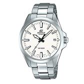 CASIO EDIFICE 日期顯示不鏽鋼錶帶腕錶(EFV-100D-7A)-白x48mm
