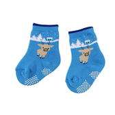 【愛的世界】可愛小鹿止滑透氣毛巾襪/7~17CM-台灣製- ★童鞋童襪