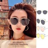 《Caroline》IG網紅款細邊大框顯瘦多邊形潮流行百搭明星抗UV太陽眼鏡 71256
