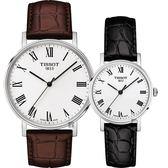 TISSOT 天梭 Everytime 羅馬經典對錶-咖啡+黑/38+30mm T1094101603300+T1092101603300