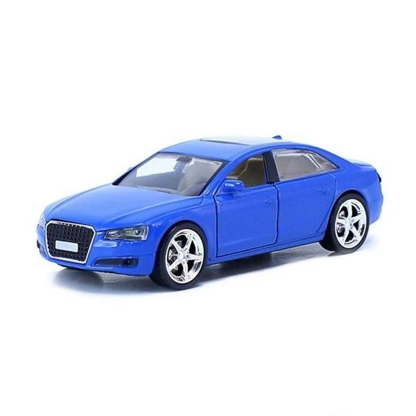 Audi藍 經典豪華炫光合金模型車 (購潮8)