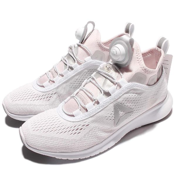 Reebok 慢跑鞋 Pump Plus Tech 白 灰 充氣襪套跑鞋 休閒鞋 運動鞋 女鞋【PUMP306】 BD4868