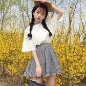 短袖套裝社會網紅女士夏2019新款港味兩件套裝t恤短裙俏皮女神小個子時尚 衣櫥秘密