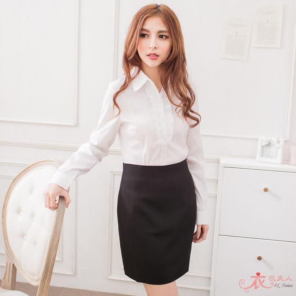 ╭*衣衣夫人OL服飾店*╮【N1953】台製素面黑色裙子(黑色)