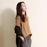 文藝棉麻襯衣女裝新款上衣 設計感小眾寬鬆長袖亞麻襯衫