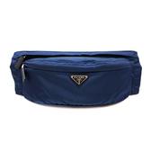 【台中米蘭站】全新品 PRADA 經典銀三角牌尼龍腰包/斜背包(2VL132-寶藍)