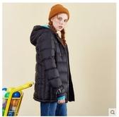 羽絨服女新款冬裝連帽輕薄面包服休閒外套學生 瑪麗蘇DF