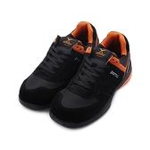 PAMAX 反毛皮復古運動鋼頭安全鞋 黑橘 PS36925FEH 男鞋