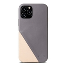 Alto iPhone 12 / 12 Pro 通用款 真皮手機殼背蓋 6.1吋 Metro 360 - 礫石灰/本色【可加購客製雷雕】