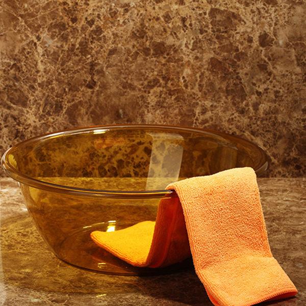 黑五好物節日本家用盆子寶寶洗臉盆塑料盆小號加厚嬰兒洗手洗腳盆洗菜洗衣盆   初見居家