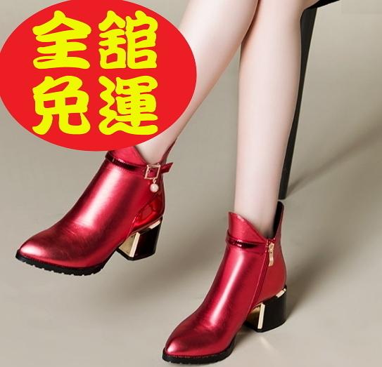 短靴女靴馬丁靴平底短靴中筒靴厚底靴軍靴機車靴雪靴休閒鞋2色2款100n104【Brag Na義式精品】