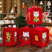 春節過年新年豬年年貨裝飾用品掛件掛飾拉花小燈籠紅燈籠場景布置 享購