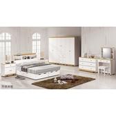 【森可家居】克莉絲5尺床組(全組) 8ZX424-2 雙人房間組 白色 無印 北歐風