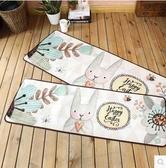 韓式卡通廚房地墊愛心兔子入戶門廳腳墊-40×120cm