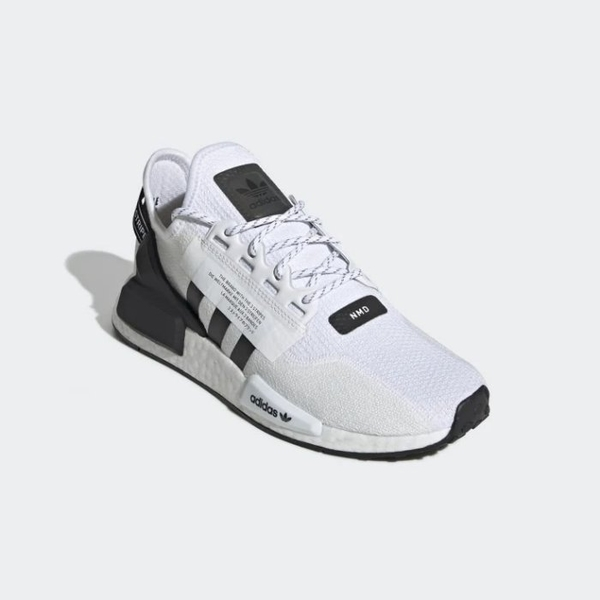 ISNEAKERS ADIDAS ORIGINALS NMD R1 V2 白色 休閒 日文 變色標 襪套 男鞋 運動 FV9022