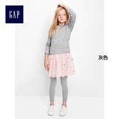 Gap女童 柔軟兒童緊身內搭褲 彈力鉛筆褲 休閒運動長褲 523702-灰色