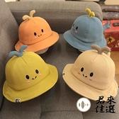 嬰兒帽子薄款男寶寶漁夫帽遮陽春款兒童帽 夏季【君來佳選】