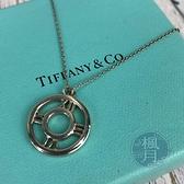 BRAND楓月 TIFFANY&CO. 蒂芬妮 925純銀 圓圈羅馬字造型項鍊 配件 配飾 飾品 時尚單品 銀飾
