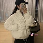 燈芯絨外套 冬季2019新款韓版寬鬆棉衣外套小個子短款燈芯絨小棉襖面包棉服女 3色