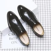 米蘭 夏季布洛克雕花男鞋韓版英倫潮鞋休閒商務正裝內增高皮鞋男婚禮鞋