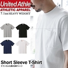 日本United Athle厚磅口袋短T...