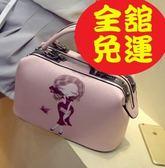 PU皮革化妝包大容量韓版氣質隨身攜帶200h63【Brag Na義式精品】