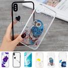 蘋果 iPhone XR XS MAX X i8+ i7+ ES彩繪殼 手機殼 全包邊 透底 保護殼