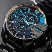DIESEL 潮流炫彩三眼計時腕錶 DZ4318 熱賣中!