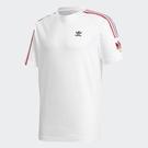 ADIDAS ADICOLOR 3D 白 繡標 三線 雙標 短T 短袖T恤 男 (布魯克林) GE0837