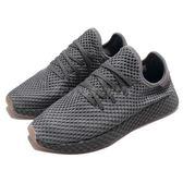 adidas 休閒慢跑鞋 Deerupt Runner 灰 白 網格設計 舒適中底 復古外型 男鞋 運動鞋【PUMP306】 CQ2627