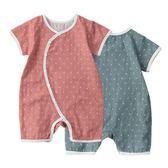 和服寶貝崽棉質紗布夏天連身衣中國風爬爬冷氣家居和服嬰兒童薄款哈衣 交換禮物