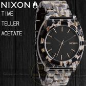 NIXON 實體店The TIME TELLER ACETATE 腕錶 A327-1157/Leopard公司貨
