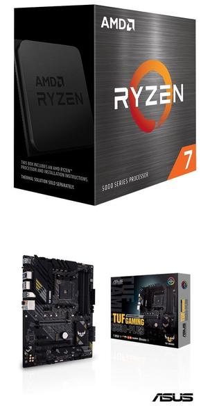 【自組DIY兩件組R58】AMD R7 5800X+華碩 TUF GAMING B550-PLUS