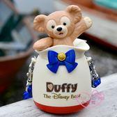 小花花日本精品♥ 迪士尼達菲熊DUFFY藍色蝴蝶結束口袋造型糖果罐附糖 海洋樂園限定96520307